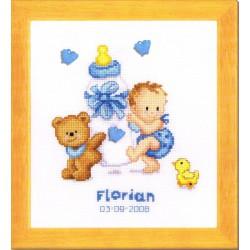 Vervaco tableau de naissance gar on 0012678 kit - Tableau de naissance point de croix gratuit ...
