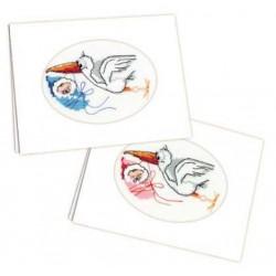 Riolis  kit Carte du nouveau-né | Riolis 995 | Broderie du monde