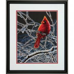 Dimensions | kit  Cardinal et buisson givré  Dimensions  70-35292 | Broderie du monde