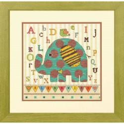 Dimensions | kit  Bébé éléphant ABC  Dimensions  70-73988 | Broderie du monde