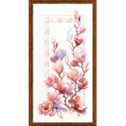Riolis  kit Magnolia | Riolis 1278 | Broderie du monde