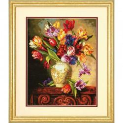 Dimensions | kit  Tulipes perroquet  Dimensions  70-35305 | Broderie du monde