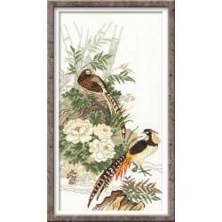 Riolis  kit Pheasants | Riolis 929 | Broderie du monde