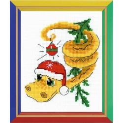 Riolis  kit  Nouvel An serpent dragon | Riolis HB-126 | Broderie du monde