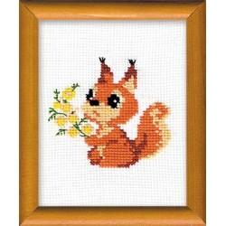 Riolis  kit Petit écureuil | Riolis 579 | Broderie du monde