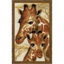 RIOLIS  1697  Girafes  Broderie  Point de croix compté