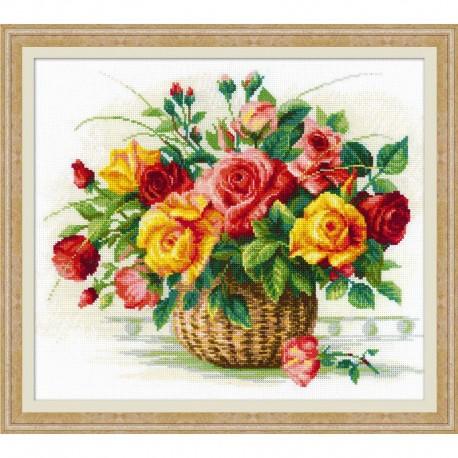 RIOLIS  1722  Panier avec des roses