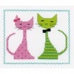 Chat  rose  et  vert  0149498  Vervaco