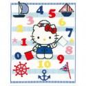 Vervaco  0149845,  Kit  Broderie  point  de  croix  compté,  Compter  avec  Hello  Kitty