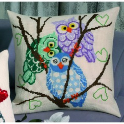 Permin  Coussin  3  Chouettes  83-3822