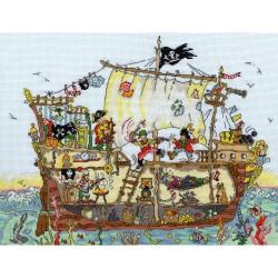 Cut Thru  Pirate  Ship  XCT7  Bothy Threads