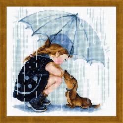 RIOLIS  1720  Sous mon parapluie  Broderie au point de croix compté