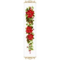 RIOLIS  1729  Poinsettia  Broderie  Point de croix compté  Aida 5.4
