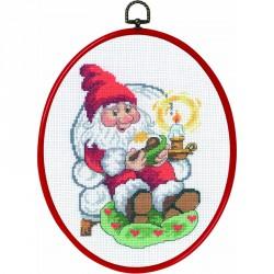 Permin | kit  Père Noël se repose  Permin  12-3253 | Broderie du monde