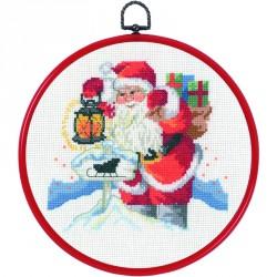 Permin | kit  Boîte aux lettres de Père Noël  Permin  12-2201 | Broderie du monde
