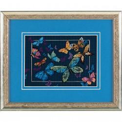Dimensions | kit  broderie  point de croix  compté  Papillons exotiques | Dimensions  D06846 | Broderie du monde