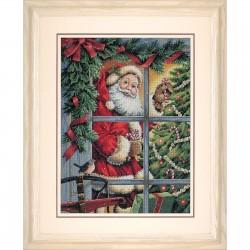 Dimensions  Canne  en  sucre  Père  Noël  8734  Broderie du monde