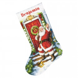 Chaussette  Bienvenue  Père Noël  70-08901  Dimensions