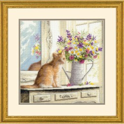 Dimensions  70-35359  Chaton à la fenêtre  Kit  Broderie point compté