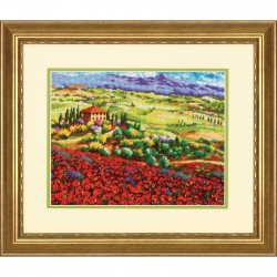 Coquelicots de Toscane  Dimensions  71-20084  Kit  Canvas