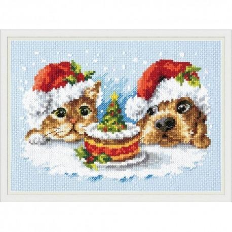 Chudo Igla  Magic Needle  19-27  Un délicieux Noël  Broderie  au  Point de croix  compté