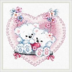 Chudo Igla  Magic Needle  80-06  Amour heureux  Broderie Point de croix compte
