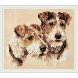 Chudo Igla  Magic Needle  59-26  Fox Terriers  Kit  Point de croix compté
