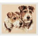 Chudo Igla  Magic Needle  59-26  Fox Terriers  Kit  Point de croix compté
