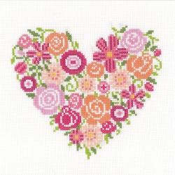 VERVACO  0156336  Cœur floral  Broderie  Point de croix compté
