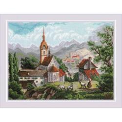 RIOLIS  1701  Monastère de Shonenvert  Broderie  Point de croix compté