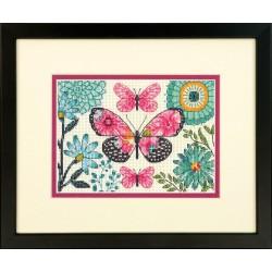 Dimensions  70-65178  Rêve de papillon  Broderie  Point de croix compté