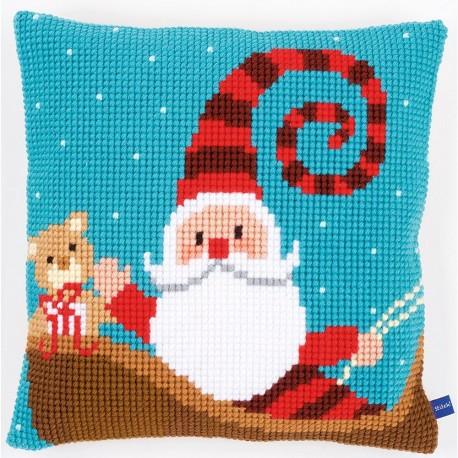 Vervaco  0155869  Coussin  Père Noël sur traîneau  Point de croix