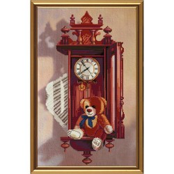 Nova Sloboda  kit  Antique Clock  Nova Sloboda  CB3024 | Broderie du monde