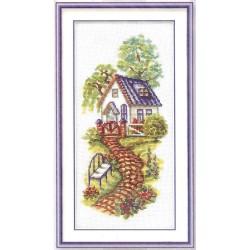 RTO  M119  Petite Maison  Broderie  Point de croix compté