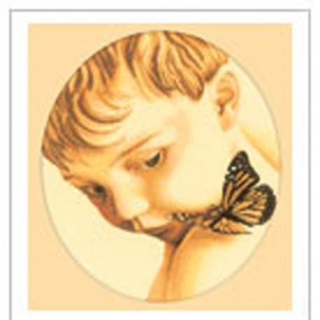 RTO  M177  Petit garçon au papillon  Broderie  Point de croix compté
