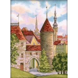 RTO  M201  Le Vieux Tallinn  Broderie  Point de croix compté