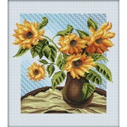 RTO  M232  Bouquet de tournesol  Broderie  Point de croix compté