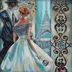 RTO  M236  Femmes glamour dans Lieux fabuleux  Paris  Broderie  Point de croix compté