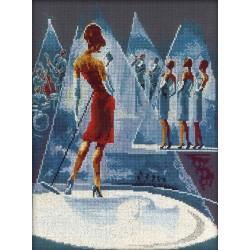 RTO  M237  Femmes glamour dans Lieux fabuleux  Broderie  Point de croix compté
