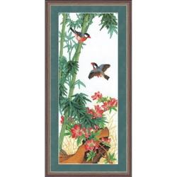 RTO  R123  Oiseaux et fleurs  Broderie  Point de croix compté