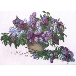 RTO  R187  Bouquet de lilas  Broderie  Point de croix compté