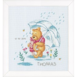 VERVACO  0172703  Disney  Winnie sentimental  Broderie  Point de croix compté