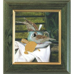 Krasa i Tvorchist | kit  Déjeuner des oiseaux  Krasa i Tvorchist  60711 | Broderie du monde