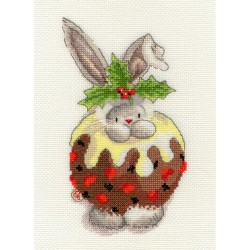 Bothy Threads XBB5  Bebunni  Christmas Pudding  Broderie  Point de croix compté