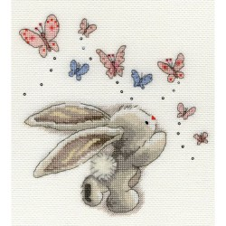 Bothy Threads   XBB3  Bebunni  Papillons  Broderie  Point de croix compté