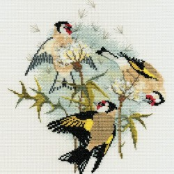 Bothy Threads   BB04  Oiseaux  Chardonnerets  Broderie  Point de croix compté