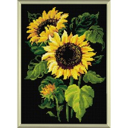 Broderie Diamant  RIOLIS  AM0006  Tournesols