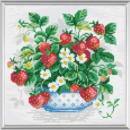 Broderie Diamant  RIOLIS  AM0008  Panier de fraises