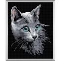 RIOLIS AM0014  Chat Bleu russe  Kit Boderie diamant