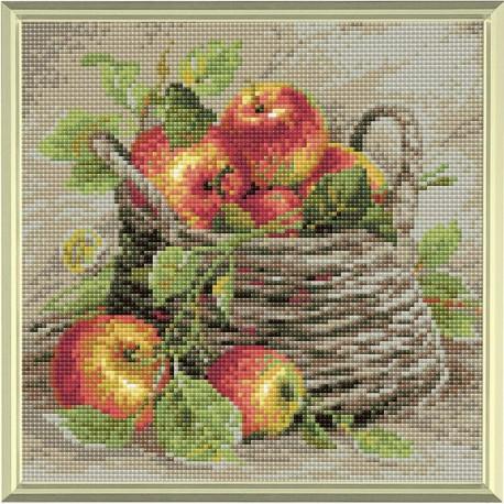 Broderie Diamant  RIOLIS  AM0015  Pommes mûres